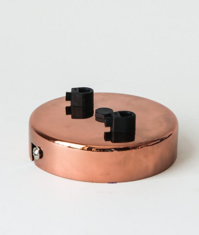 2 point polished copper rose