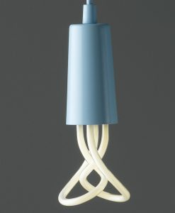 Plumen Blue Pendant with Plumen 001 Bulb