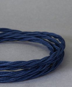 blue twisted fabric cable
