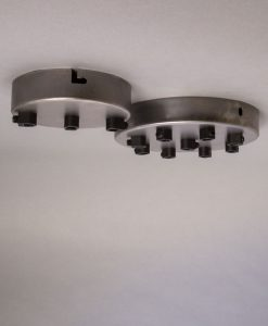 raw steel multi outlet ceiling rose