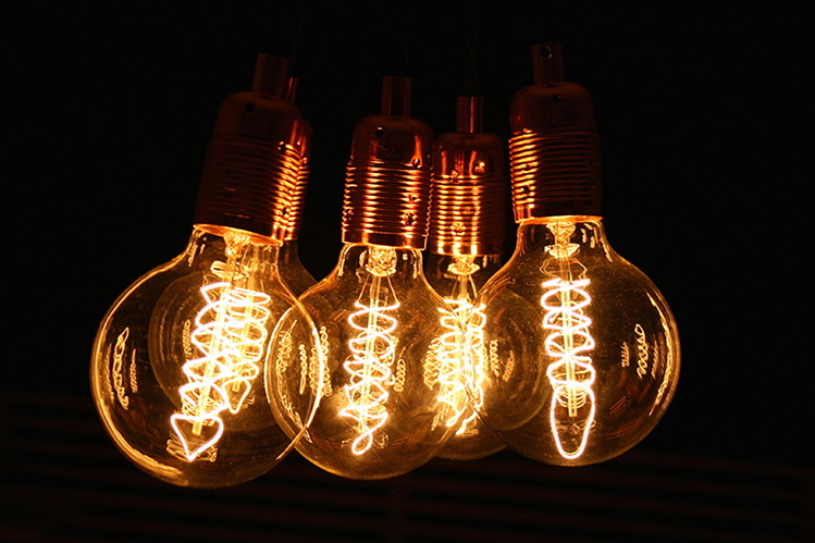 filament globe light bulbs
