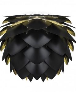 Vita Silvia Medium Black Gold Pendant Shade