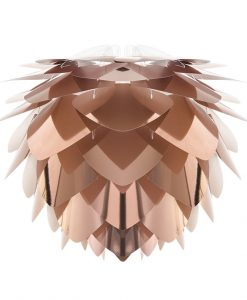 Vita Copper Pendant Light Silvia Medium Shade