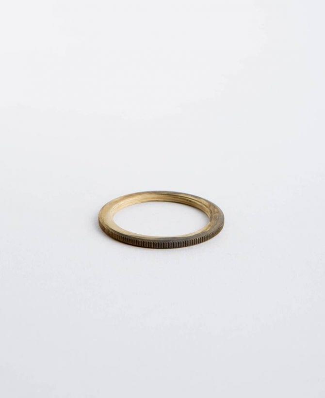 smoked gold lamp ring