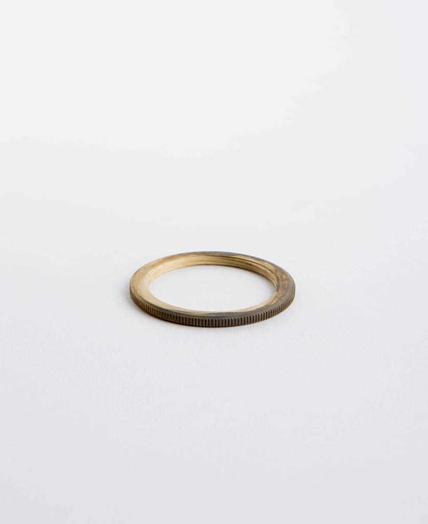 smoked gold lamp ring