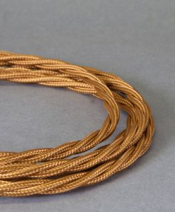 gold braided fabric cable for lighting