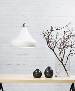 Danish Lighting White Pendant Light - Jonas