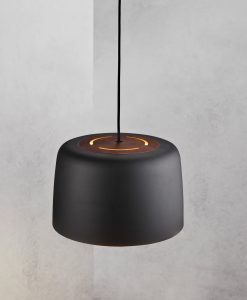 Danish Lighting Black Pendant Light - Helga