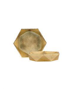 gold geometric bowl