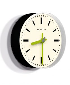 TIME PILL WALL CLOCK Black & Lime | Modern Minimalist Clock
