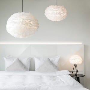 white interiors vita feather lights