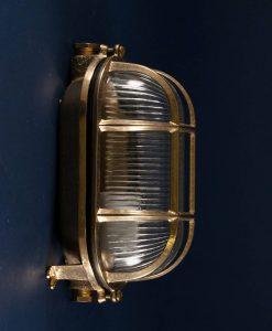dave polished brass bulkhead light