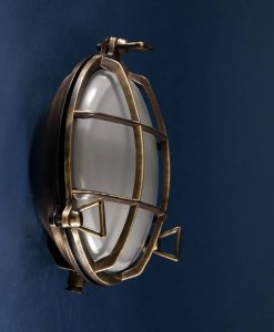 Bulkhead Light Chris Aged Brass