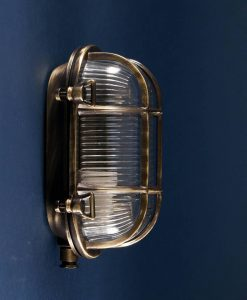 Bulkhead Light Steve Aged Brass