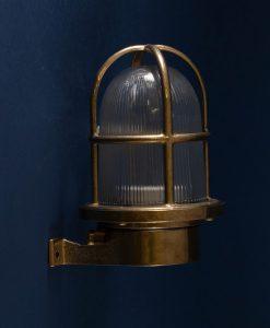 Bulkhead Light Simon Brass industrial bathroom lighting