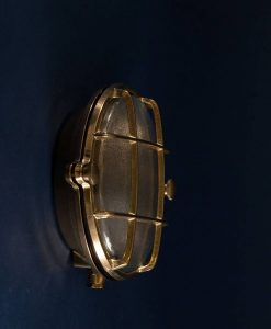 Bulkhead Light Mark Brass