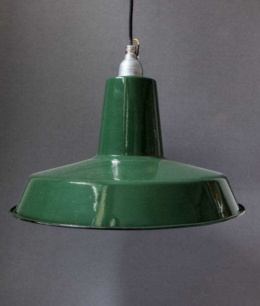 Green Enamel Wall Lights : Green Enamel Pendant Light Linton Ceiling Light