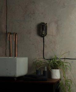 industrial bathroom lighting dave polsihed brass