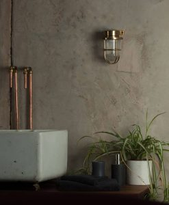 industrial wall light simon aged brass