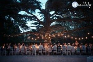 vintage light bulbs at wedding