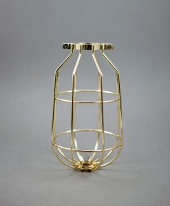 Cage Light Shade Drop Fool's Gold - Industrial Light