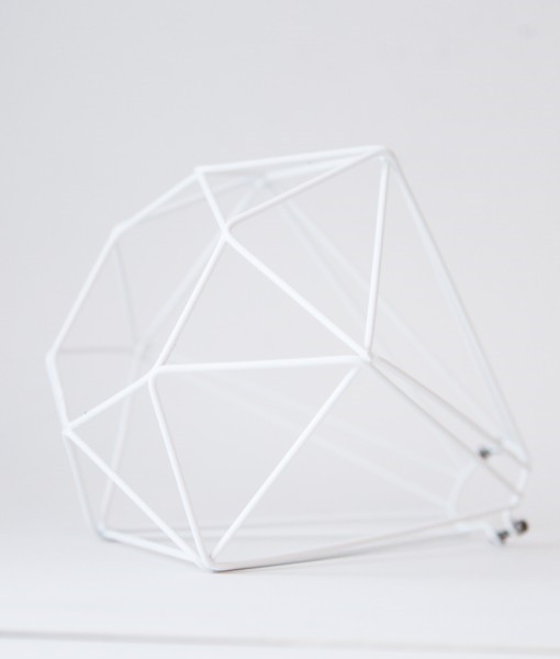 Very white diamond cage light shade Make your own shade house