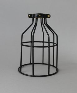Black Vinyl Cage Light Shade