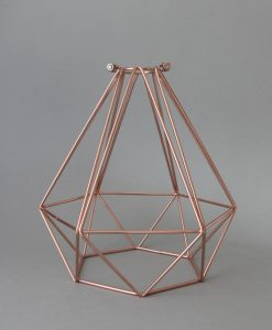 Copper Cage Light Shade Diamond