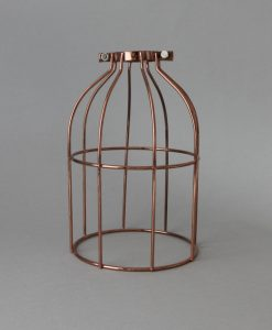 polished copper cage for industrial lighting