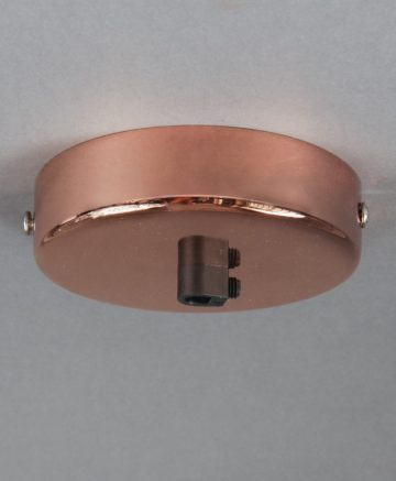 polished copper ceiling rose