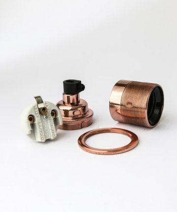 E27 copper lamp holder