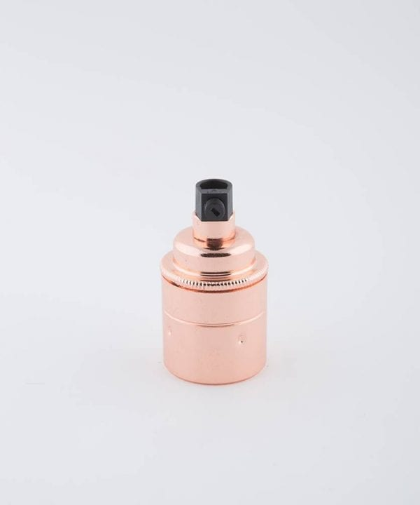 polished copper e27 light bulb holder