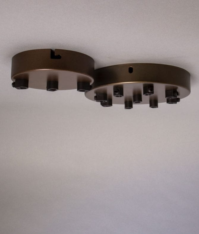 aged brass multi outlet ceiling rose