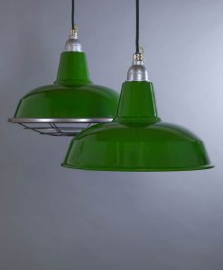 Burley Green Industrial Lighting - Industrial Style Enamel Lighting