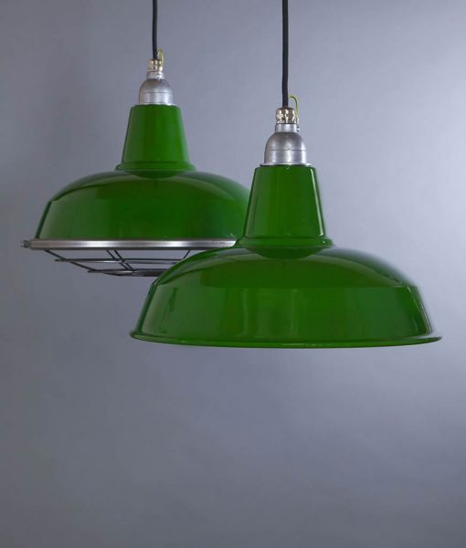 Burley Green Industrial Lighting - Industrial Style Enamel Lighting