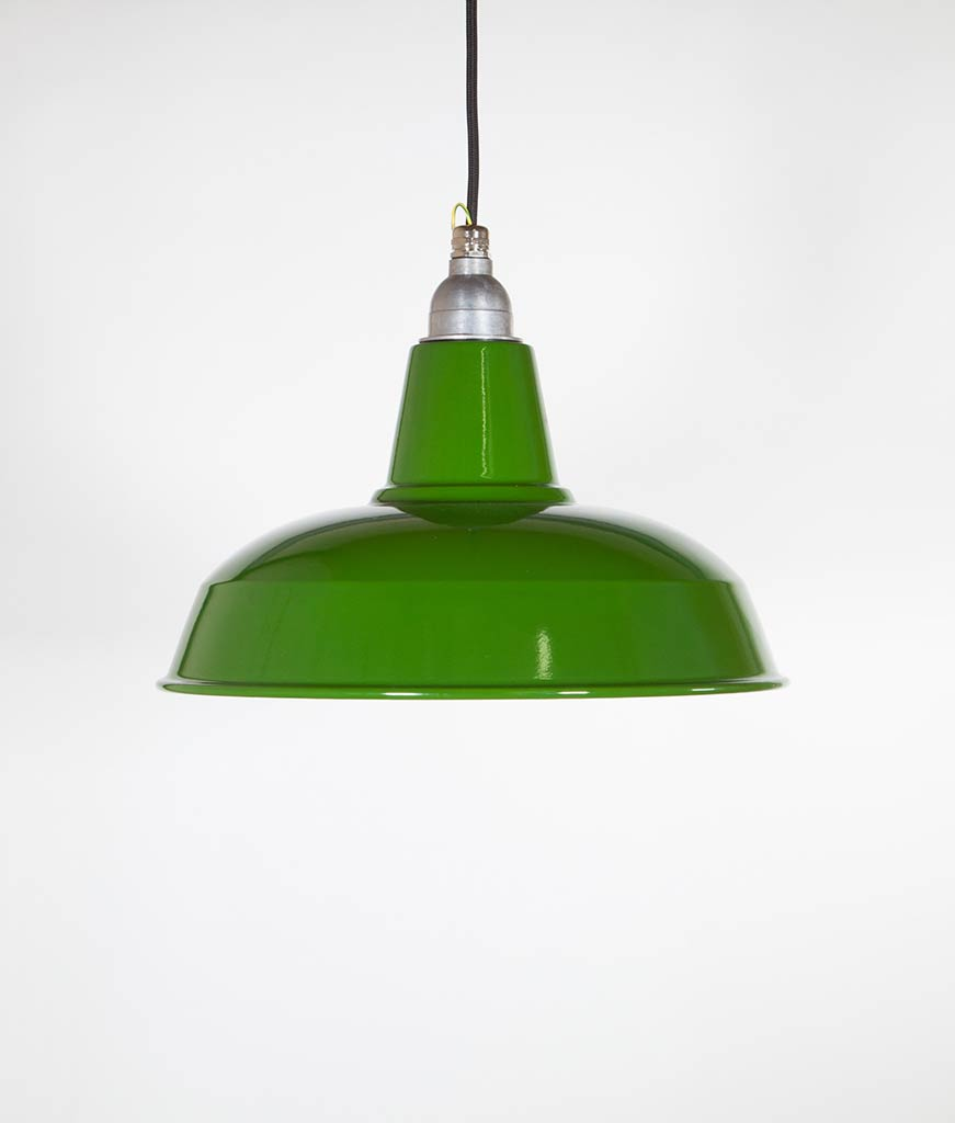 BURLEY Green Industrial Lighting - ndustrial Style Enamel Lighting
