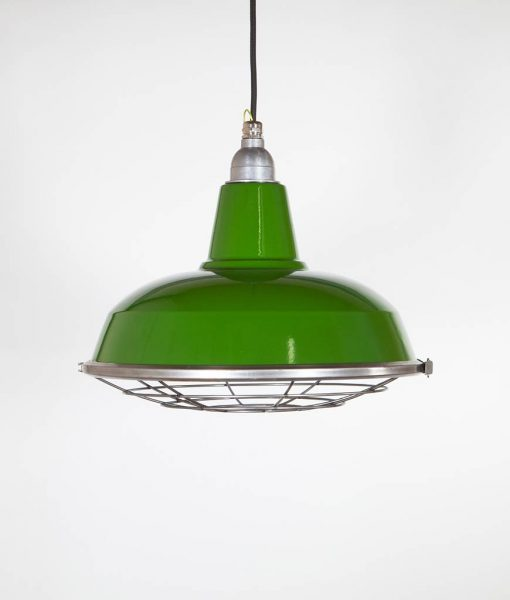 caged light green enamel shade