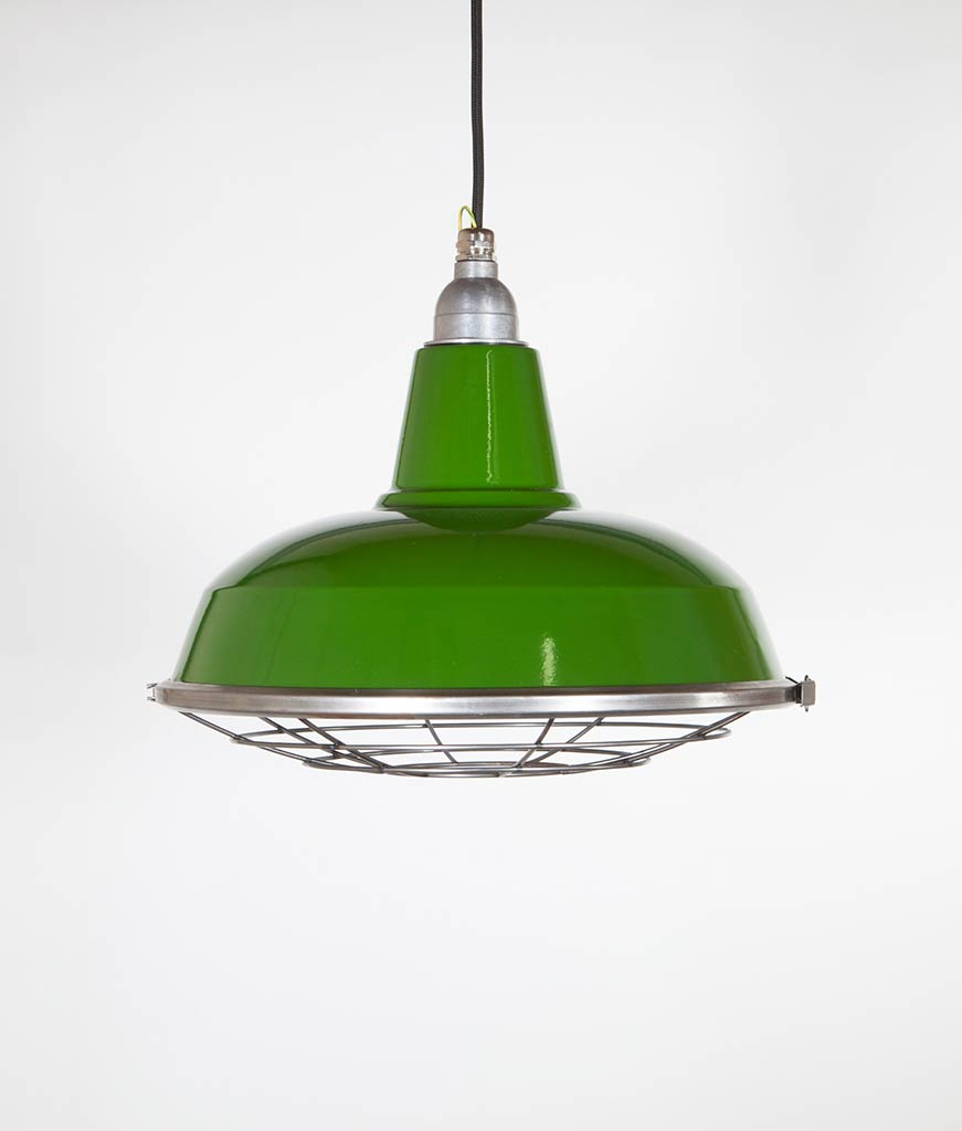 Industrial Pendant Light Green: BURLEY Green Industrial Lighting