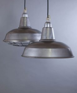 Burley raw steel industrial lighting for warehouse style interiors