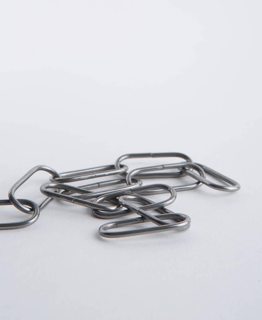 raw steel lighting chain