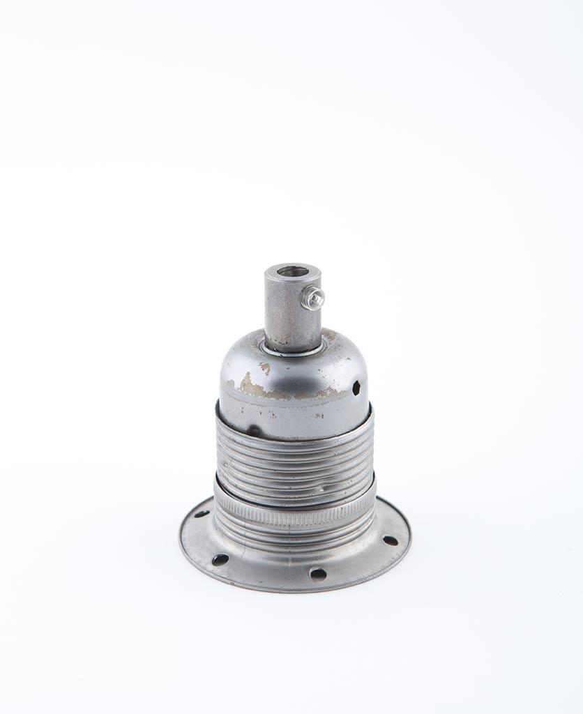 raw steel e27 domed light bulb holder