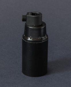 E14 black bakelite lamp socket