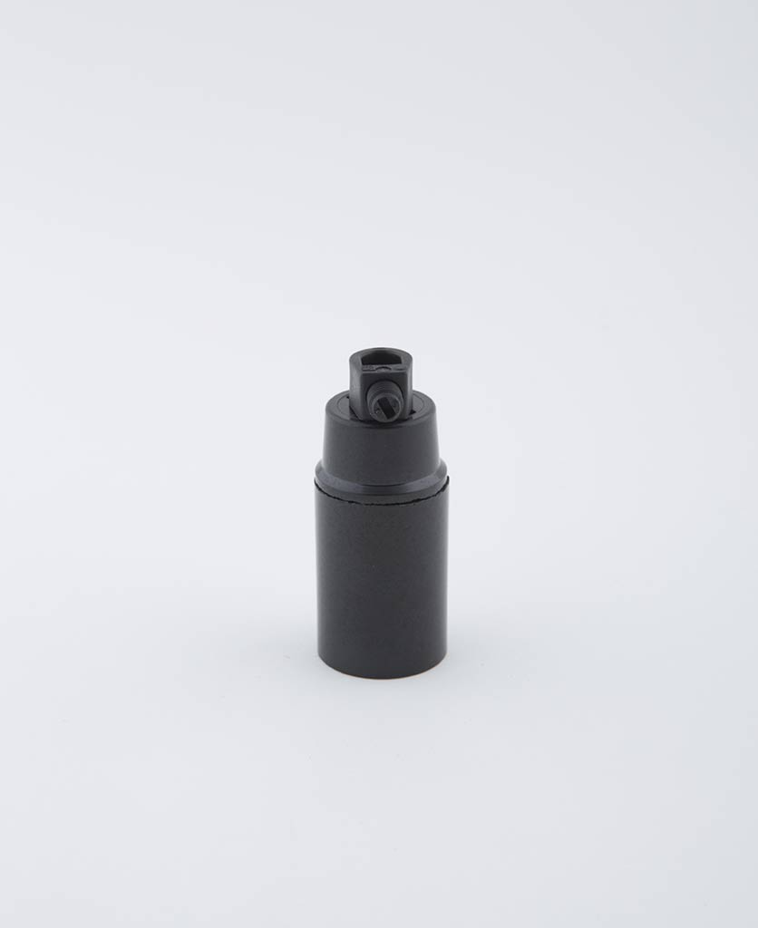 domino black e14 bakelite bulb holder