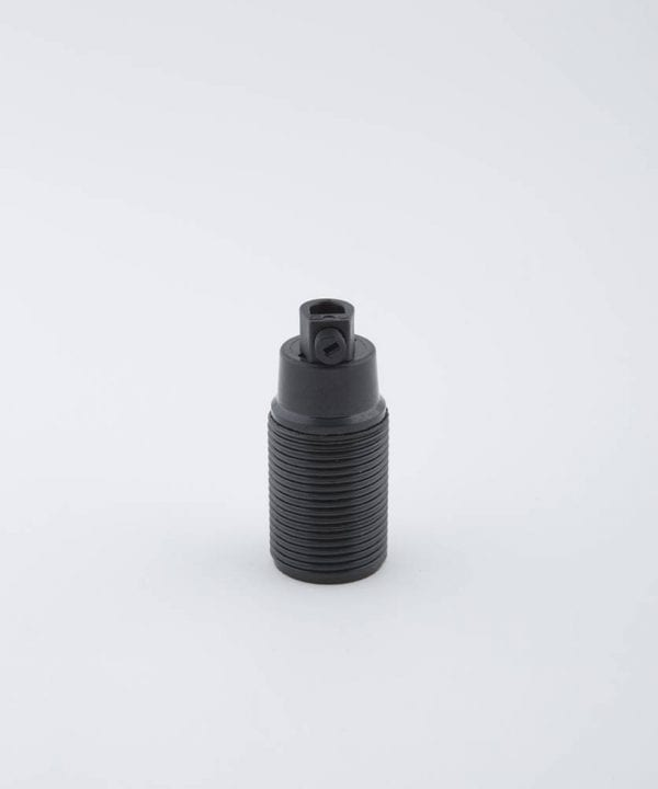 domino black e14 bakelite threaded bulb holder