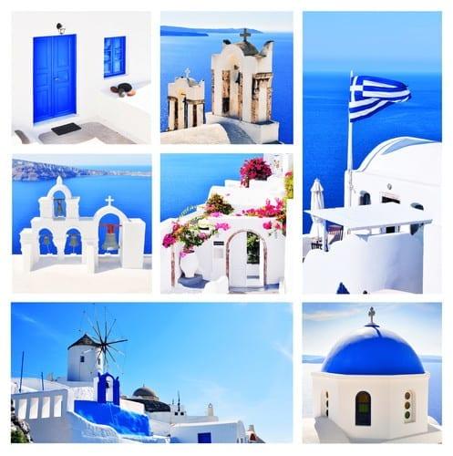 Greek Blue Domes & Doors