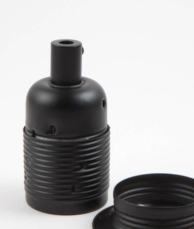 black domed bulb holder