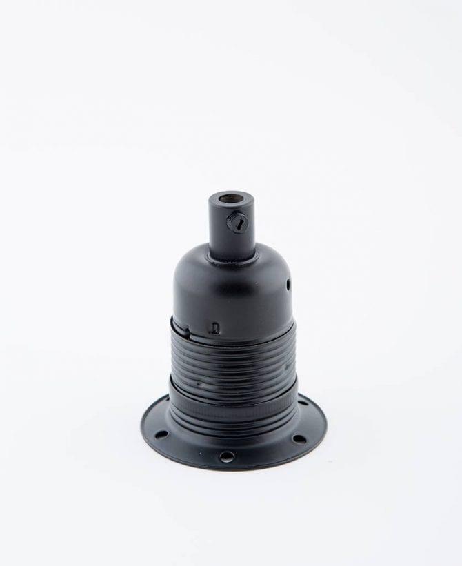 oh so black e27 domed light bulb holder