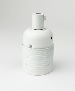 E27 Light Bulb Holder / Lamp Holder Domed White