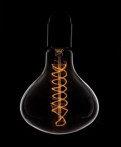 Vintage Light Bulb Water Drop Spiral Filament