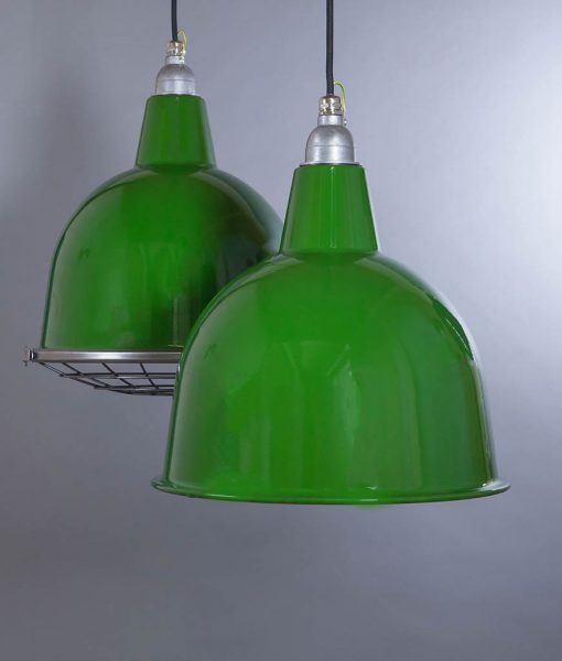 Stourton green industrial lighting - indistiral style enamel lighting